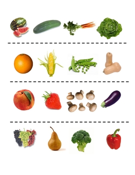 Interactive French Speaking Activity with Fruit and Vegetable Vocab