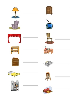Interactive French Speaking Activity with Room Furniture Vocabulary