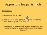 Interactive French sight word practice / Pratique de mots