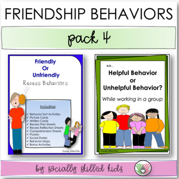 SOCIAL SKILLS: Friendship Behaviors~ Activity Pack 4