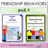 SOCIAL SKILLS Friendship Behaviors {Activity Pack 4}