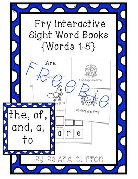 {FREE} Interactive Fry Sight Word Little Readers :: SAMPLE {5 Little Readers}
