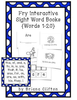 Interactive Fry Sight Word Little Readers {20 Little Reader Books}