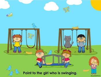 Interactive Fun:  Following Directions on the Playground  (NO PRINT)