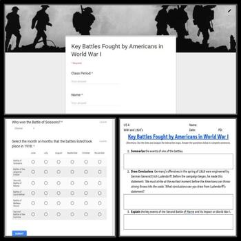 Interactive Gallery: Key Battles of World War I with Google Form