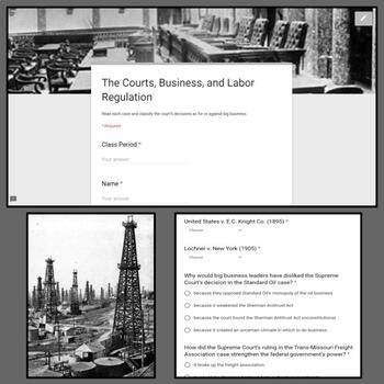 Interactive Gallery: The Courts, Business, and Labor Regulation (1895-1911)