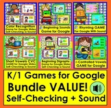 Interactive Games For Google Slides Bundle for K/1 With SO