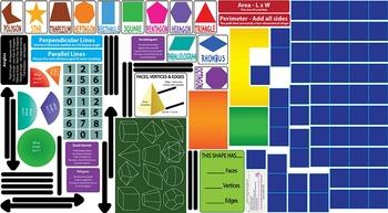 Interactive Geometry Wall Play Set