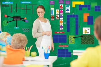 Interactive Geometry Wall Play Set