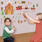 Interactive Gingerbread House Wall Play Set