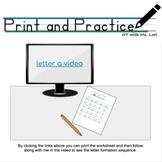 Interactive Google Slides Letter Formation Slide lowercase a