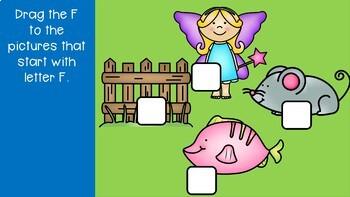 Interactive Google Slides Phonics Letter F (Kindergarten Wonders Unit 5 Week 3)