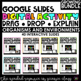 Interactive Google Slides | ORGANISMS AND ENVIRONMENTS REVIEW | GROWING BUNDLE
