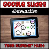 Interactive Google Slides™: Teen Number Hunt (11-20) | Distance Learning
