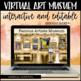 Interactive Google Slides VIRTUAL ART MUSEUM for distance