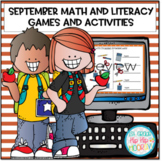 Interactive Google Slides for September Math and Literacy