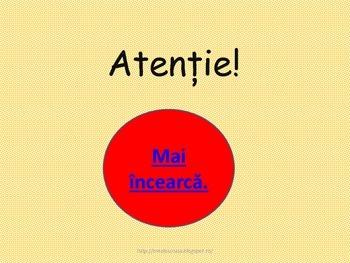Interactive Grammar Game in Romanian Language