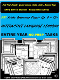Interactive Grammar Lessons for Entire Year (NO-PREP) - Gr