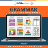 Grammar Interactive Notebooks, Parts of Speech, Interactive Grammar Notebooks