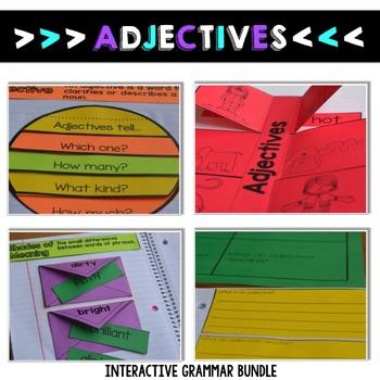 Grammar Interactive Notebooks, Parts of Speech, Interactive Grammar Notebooks