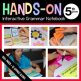 Interactive Grammar Notebook Fifth Grade Common Core with Scaffolded Notes