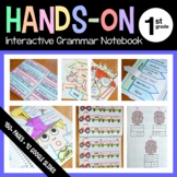 Interactive Grammar Notebook First Grade Common Core with Scaffolded Notes