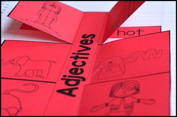 Nouns, Verbs, and Adjectives Interactive Grammar Notebook Freebie