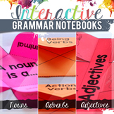 Nouns, Verbs, and Adjectives Interactive Grammar Notebook Freebie