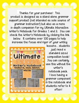 Interactive Grammar Notebook Grades 1-2