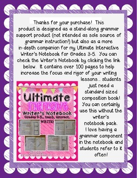 Interactive Grammar Notebook Grades 3-5