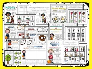 Interactive Grammar Notebook ~ Grammar/Mechanics for 1st Grade CCSS