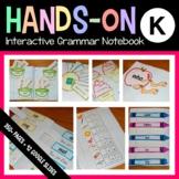 Interactive Grammar Notebook Kindergarten Common Core with Scaffolded Notes
