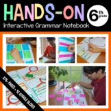 Interactive Grammar Notebook Sixth Grade Common Core with Scaffolded Notes