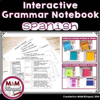 Interactive Grammar Notebook *Spanish*