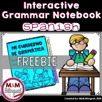 Interactive Grammar Notebook *Spanish FREEBIE*