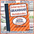 Grammar Interactive Notebook: Grammar Activities Grades 4-8