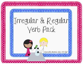 Interactive Grammar: Regular and Irregular Verbs (books and games)