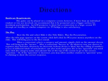 "Interactive Grammar Review a la ""Jeopardy"""