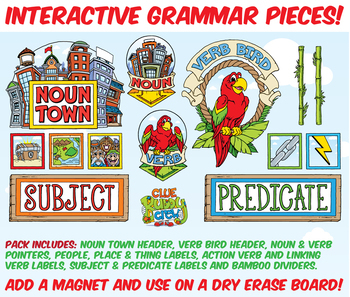 Interactive Grammar Wall Pieces Pack
