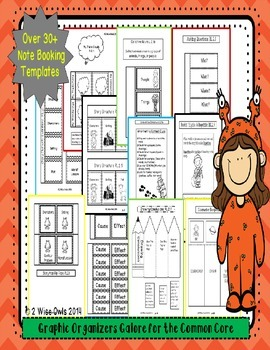 Graphic Organizers for 2nd Grade CCSS Aligned
