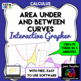 Calculus Interactive Graphing App for Area Under Curve & A