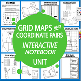 Grid Maps and Coordinate Pairs Interactive Notebook Unit – DISTANCE LEARNING