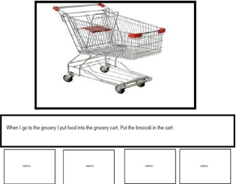 Interactive Grocery Store and Preposition Book