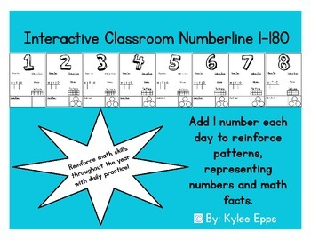 Interactive Growing Classroom Numberline 1-180