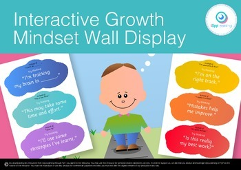 Interactive Growth Mindset Wall Display Poster Printable Activity