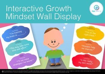 Interactive Growth Mindset Wall Display Poster Printable Activity