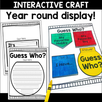 Guess Who Craftivity Bulletin Board Display