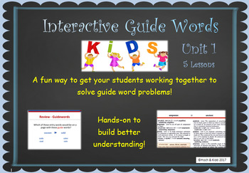 Interactive Guide Words - Unit 1 - 5 Lessons