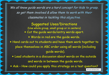 Interactive Guide Words - Entire Bundle - Unit 1 - 5 (25 lessons)