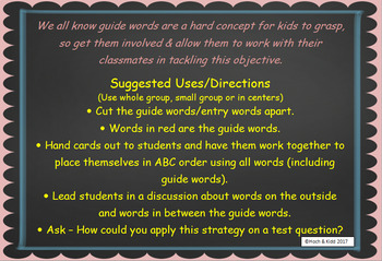 Interactive Guide Words - Unit 3 - 5 Lessons